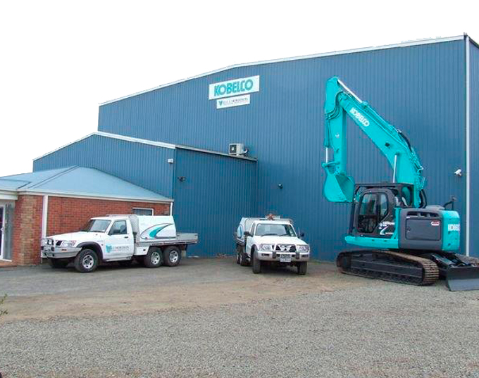 Kobelco service department in St Leonards